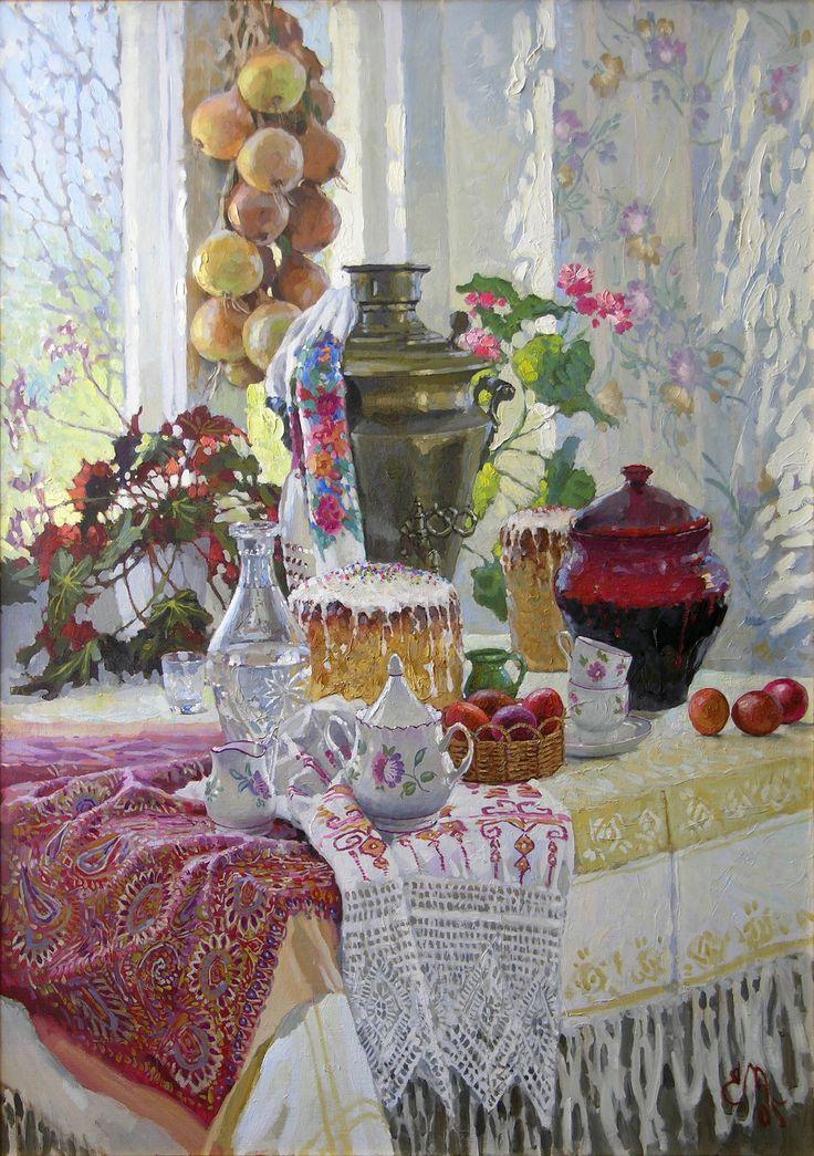 Прекрасные дачные натюрморты Евгения Муковнина