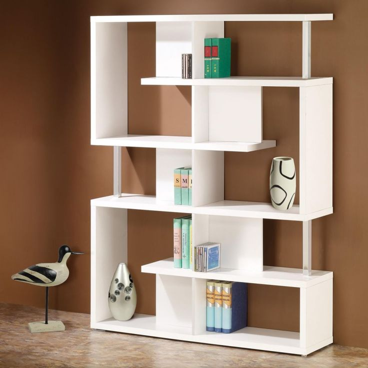 Furnitures: Prestigious And Contemporary White Bookcase For Kids Plus Computer Desk Also With Chair Along With Colorful Wall Decoration In Conjunction With Large Cupboard With Green And Blue Color from The Elegant White Bookcase