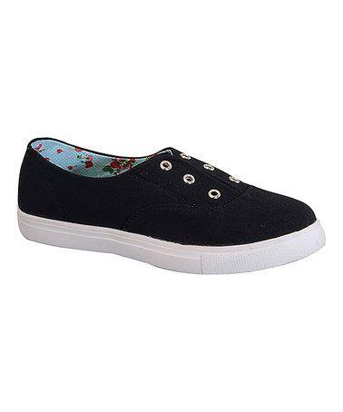 Look what I found on #zulily! Black Elsa Slip-On Sneaker #zulilyfinds