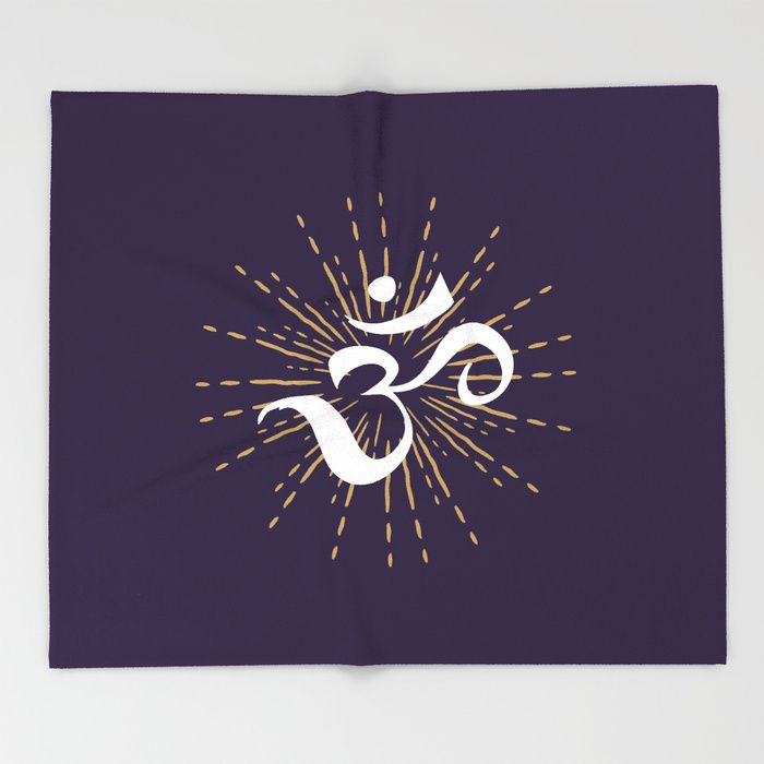Om Symbol throw blankets, beautiful and warm 😍 Our seriously soft throw blankets are available in three sizes and feature vividly colored artwork on one side. Made of 100% polyester and sherpa fleece, these might be the softest blankets on the planet, so get ready to cozy up. They can be machine washed separately with cold water on gentle cycle. Tumble dry on low heat setting. Do not iron or dry clean.