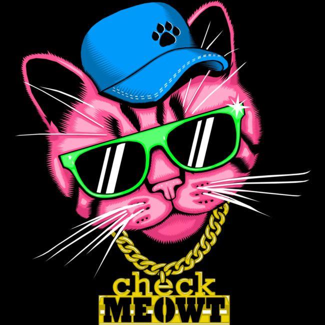 Check meowt cuzzy  #cat #funny #pun #shirt #design #art #illustration #design #humor