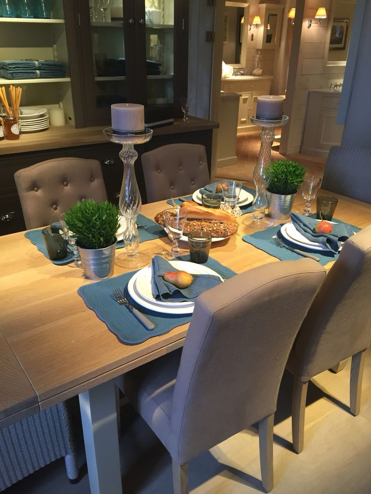 Chichester table with sheldrake chairs. Accessories available in Neptune by Browsers www.browsers.ie