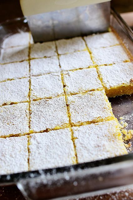 I love lemon bars, but they often fall by the wayside and get forgotten for months at a time in our house. We're much more of a chocolate chip cookie/chocolate pie/chocolate sheet cake/chocolate ice c