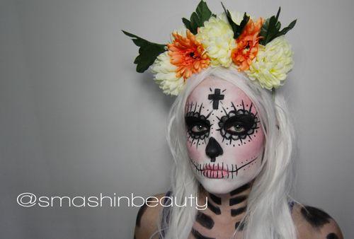Sexy Sugar Skull Makeup Halloween Makeup Tutorial 2013 Dia De Los Muertos or Day