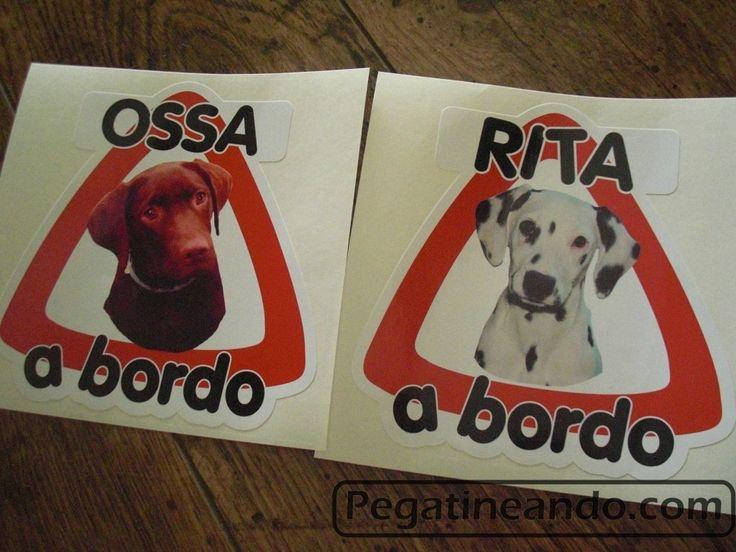 Pegatinas de perro a bordo