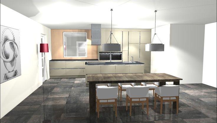 51 best images about 3d keukenontwerpen on pinterest - Keuken kookeiland ontwerp ...