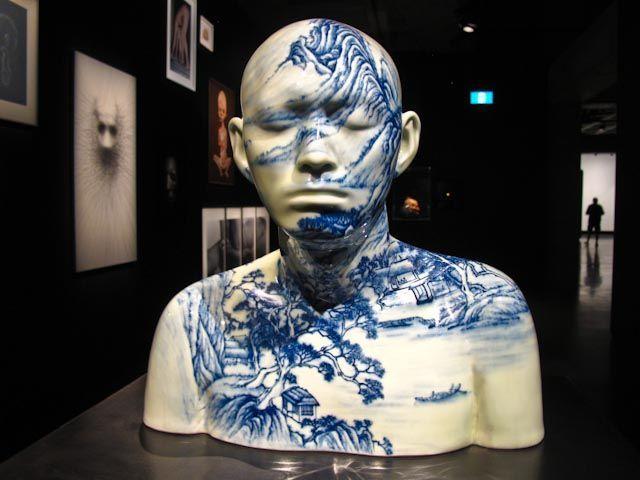 Ah Xian ceramic busts