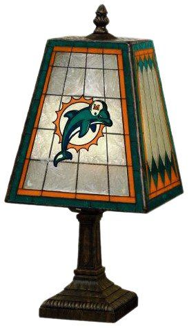 Miami Dolphins 14 Inch Art Glass Lamp