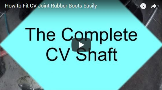 """View this video and learn how to fit your own cv joint rubber boots easily, it will save you bucks, now playing.   Do not wait for the """"cluck cluck"""" of CV Joints, have your cv joints and rubber boots checked periodically to prevent costly repairs."""