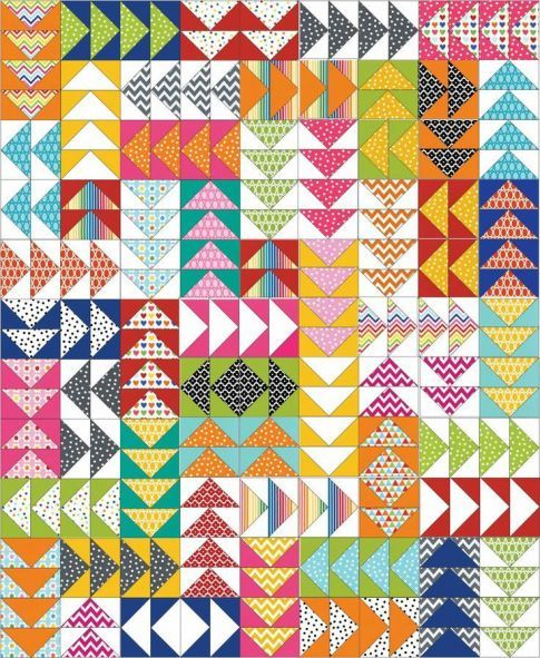 """Remixed Geese Free Pattern: Robert Kaufman Fabric Company  This is a pdf download, be sure to click """"Download more info"""", to get to the pattern."""