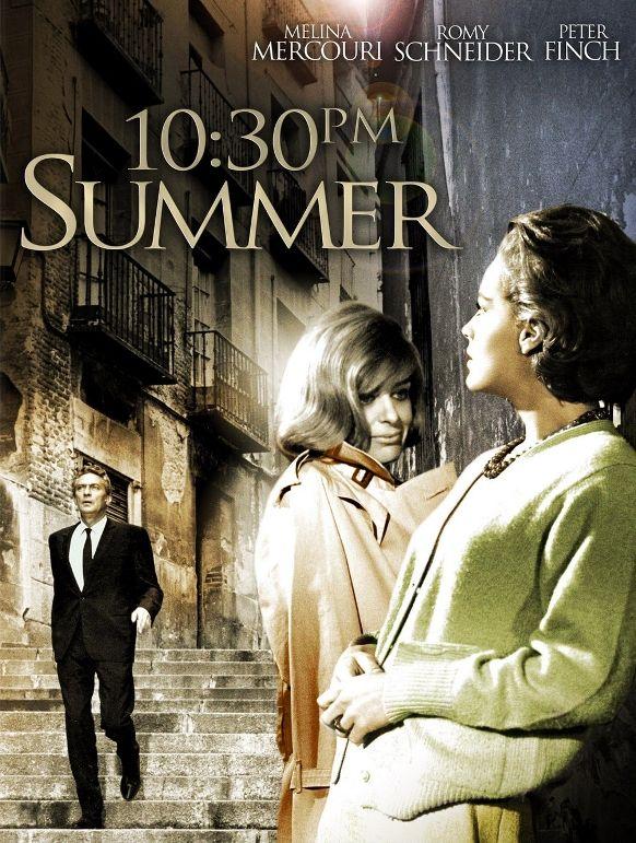 10:30 P.M. Summer (1966)  Director: Jules Dassin. Stars: Melina Mercouri, Romy Schneider, Peter Finch, Julián Mateos, Isabel María Pérez.