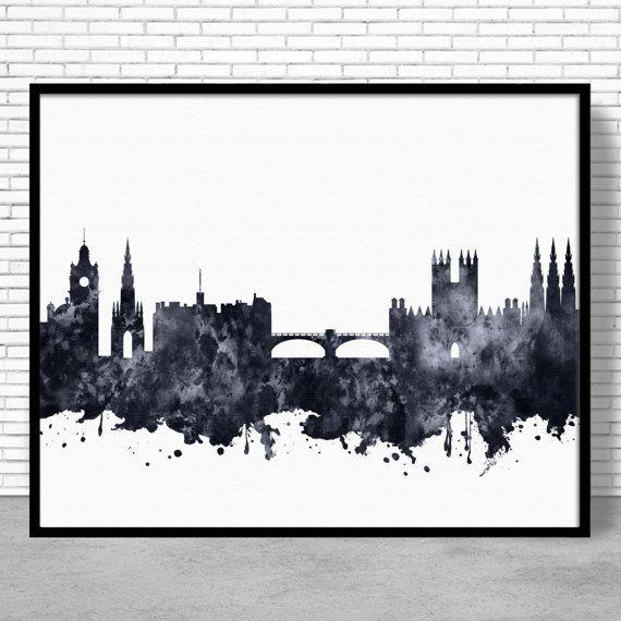 Edinburgh Print, Edinburgh Skyline, Edinburgh Scotland, Office Decor, City Wall Art, Watercolor Skyline, Watercolor City Print, ArtPrintZone #CitySkylineArt #WatercolorCity #ArtPrint #CitySkylinePrints #OfficeDecoration