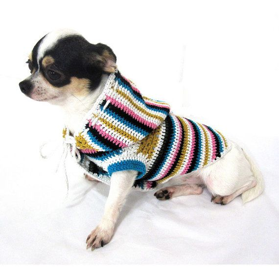 Crochet Dog Sweater Pattern Chihuahua : 17 Best images about Crochet for dogs on Pinterest ...