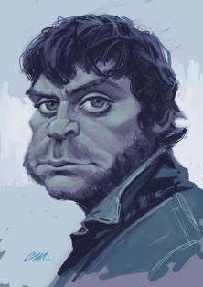 Oliver Reed- Played the Best Wolfman Movie EVER or so for❤!!!cf.-Caricature.