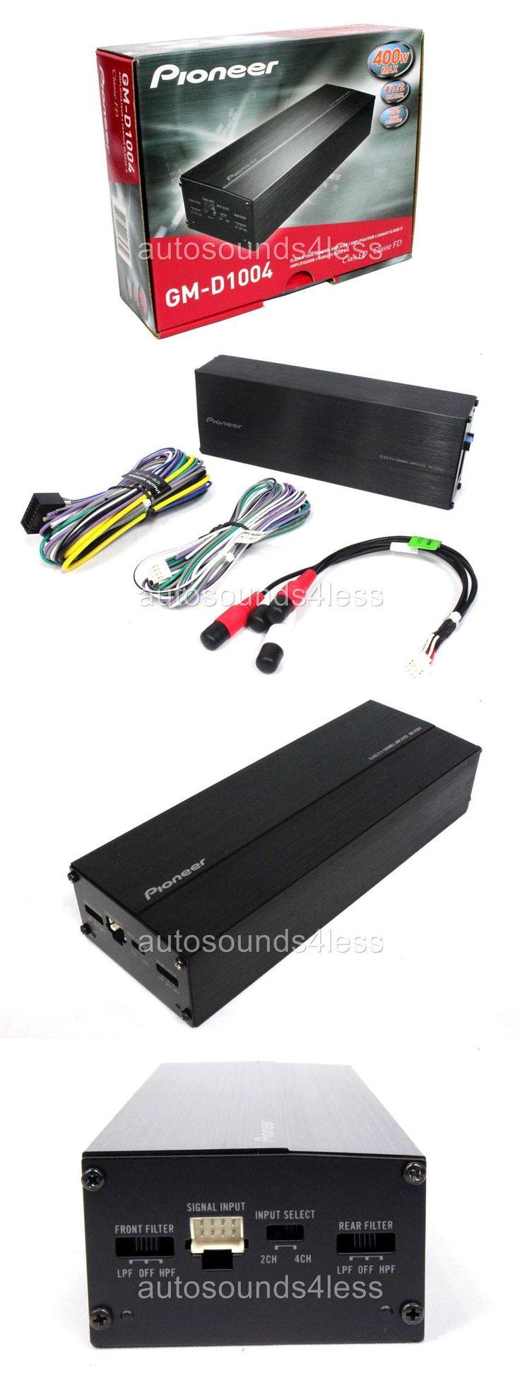 Car Amplifiers: Pioneer Gm Digital Series Gm-D1004 400 Watt 4-Channel Class Fd Car Amplifier New -> BUY IT NOW ONLY: $89 on eBay!