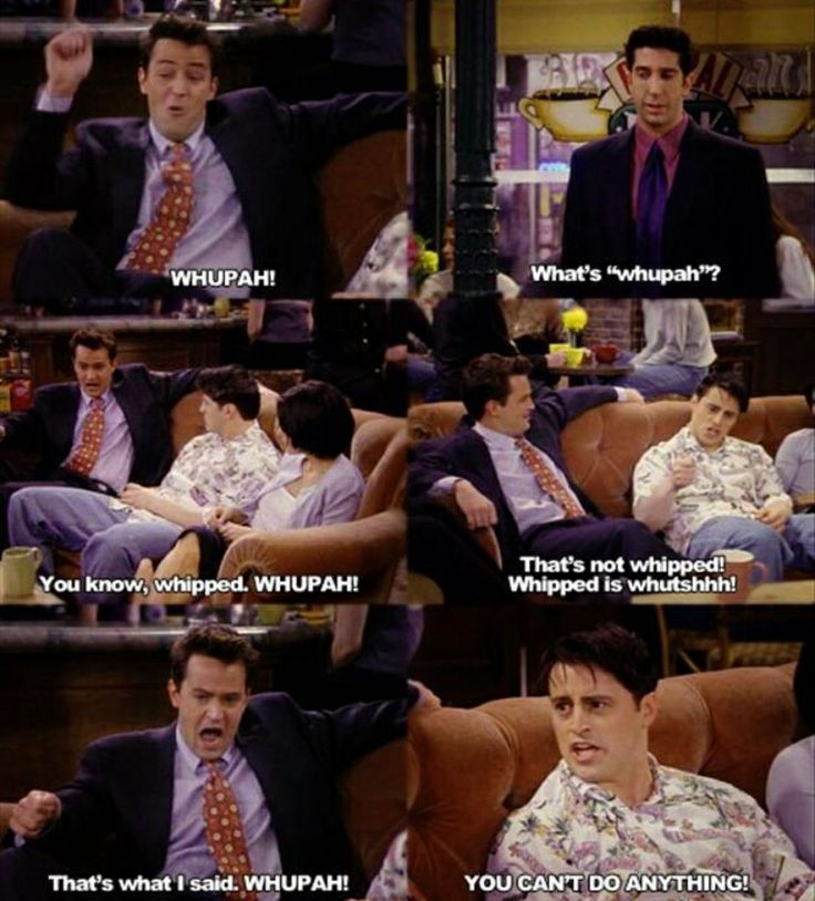 WHUPAH! - one of my all time favourite friends episodes!