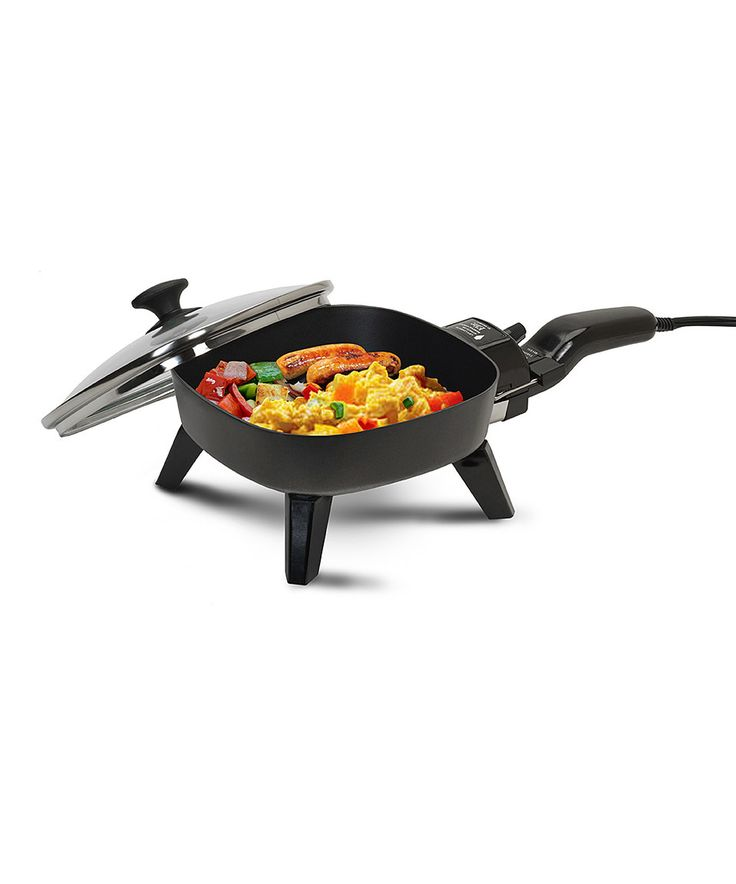 This Black Elite Cuisine 7'' Nonstick Electric Skillet by Elite Cuisine is perfect! #zulilyfinds