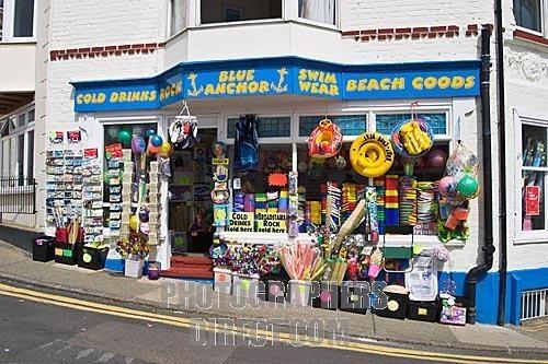 a traditional british seaside shop broadstairs , kent , uk stock photo