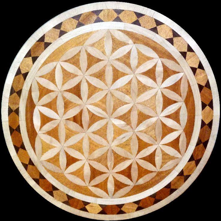 Wood Inlay Designs : Best wood flooring medallions inlays designs images