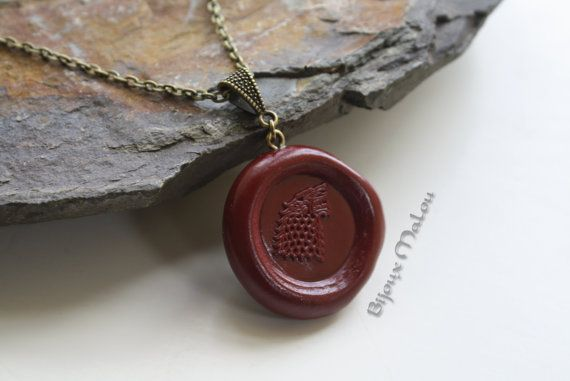 Stark Wax Seal Necklace Game of Thrones Jewellery House Stark