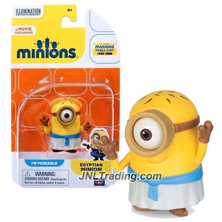 Thinkway Toys Illumination Entertainment Movie Minions 2 Inch Tall Figure - Stuart as EGYPTIAN MINION
