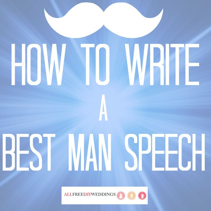how to write wedding speeches The thought of making a speech keeps grooms, best men and maids of honour awake at night, such is the pressure to get it right.