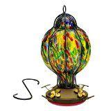 Handblown glass Tiffany Treat hummingbird feeder