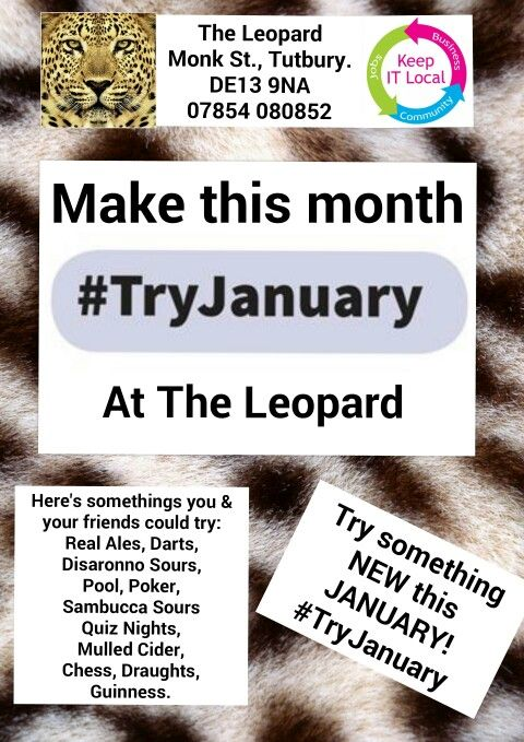 So far for #TryJanuary I've tried: Sambucca Sours  Olives  Being inspirational  Offering advice Peroni Lager  Pizza Hut  Try something NEW this January!