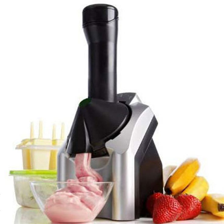 Glantop DIY Fruit Ice Cream Machine Smoothies Machine Automatic Household ice Slush Maker Fruit Smoothie Maker English Manual