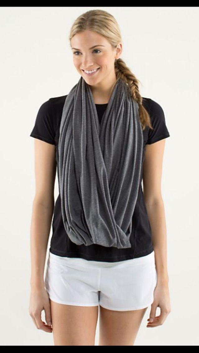 how to wear lululemon scarf