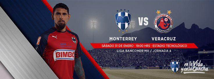 Jornada 4 en el torneo de #Clausura2015 de la LIGA Bancomer MX: sábado 31 de enero a las 19:00hrs en el Estadio Tecnológico. Club de Futbol Monterrey vs. Tiburones Rojos de Veracruz.