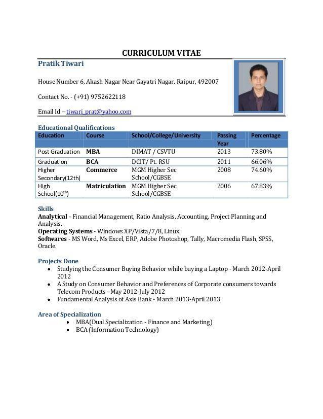 Sekho Cv Format For Mba Freshers Free Download In Word Pdf Best Resume Format Sample Resume Format Resume Format In Word