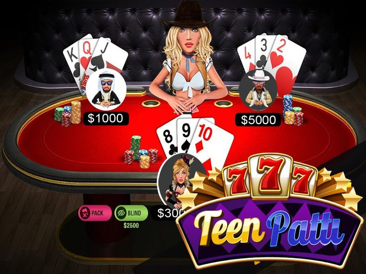 #Teen #Patti - Most popular online card game in india.