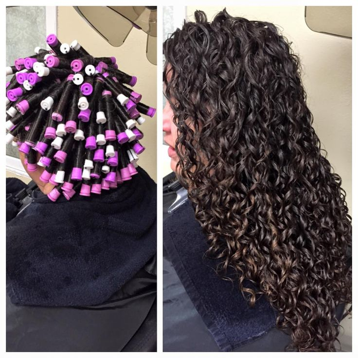 beautiful perm showing the wrap