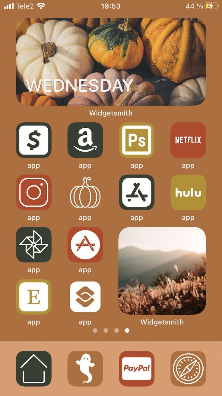 4000 BIG PACK icons Orange Green Autumn Aesthetic Etsy