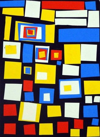 Artsonia Art Museum :: Artwork by Kristyn120,, striking Mondrian collage