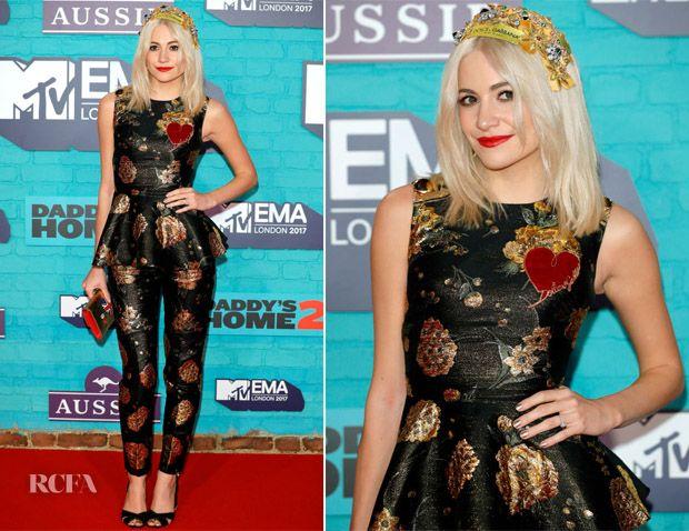 Pixie Lott In Dolce & Gabbana - 2017 MTV EMAs - Red Carpet Fashion Awards