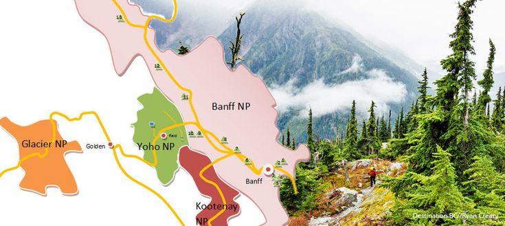 Rent a Tent Canada MAP Banff Glacier NP