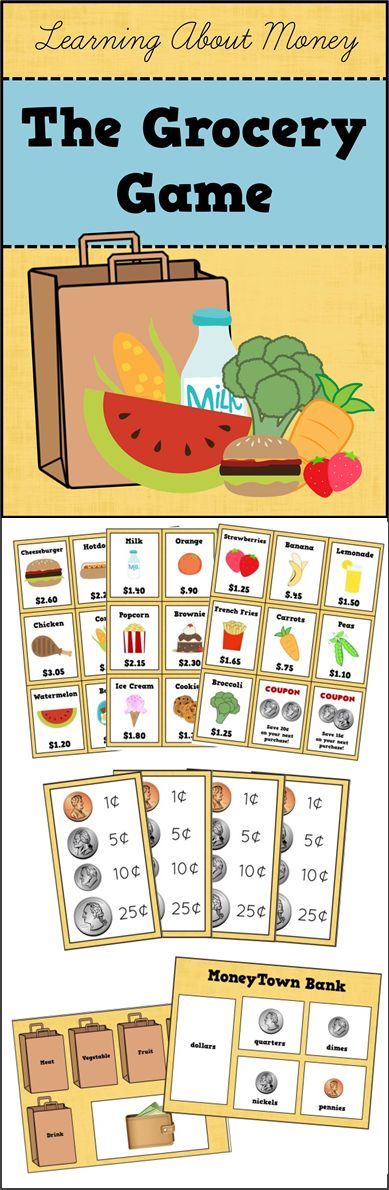 The Grocery Game - Practice counting money with this fun, hands-on activity!