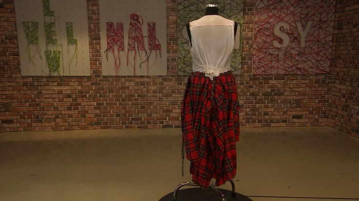 "Redesign; Men shirt to dress.  Episode 2.   ""Det store symesterskapet"" NRK 1  (The great sewing competition)"