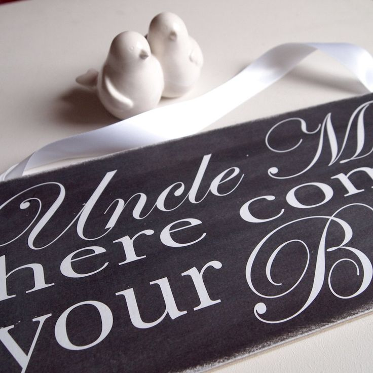 Personalised Here Comes Your Bride Ring Bearer Page Boy Chalkboard Monochrome Wedding Sign Aisle Plaque - pinned by pin4etsy.com