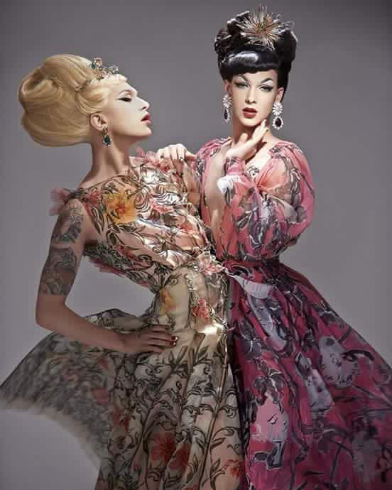 Miss Fame and Violet Chachki