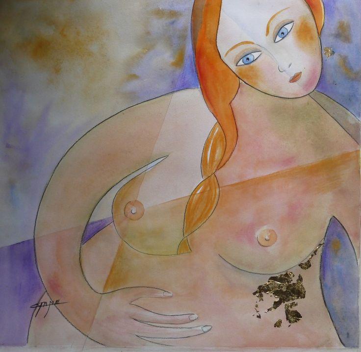 tableau art contemporain peinture moderne maternité,techniques mixtes : Peintures par cyane