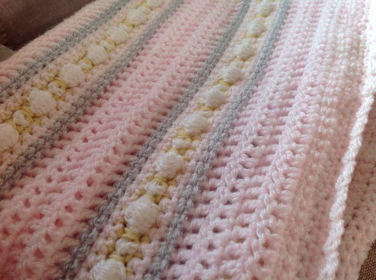 Baby, baby, baby girls blanket.
