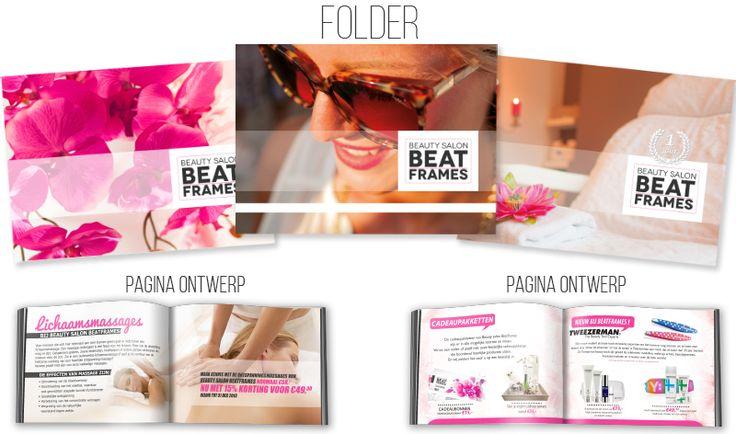 Grafisch ontwerp Folder Beautysalon Beatframes