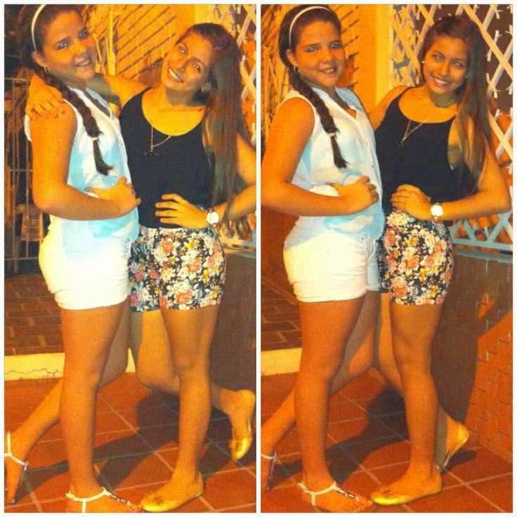 #moda #juvenil #adolescentes #casual #reuniones #amiga #short #blouse ❤️
