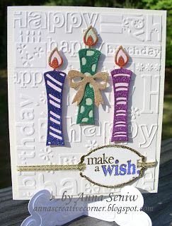 A Peek Inside The Creative Corner: Make a Wish with Glittery Candles