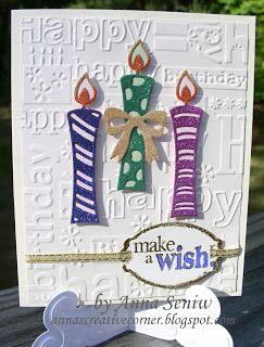A Peek Inside The Creative Corner: Make a Wish with Glittery Candles