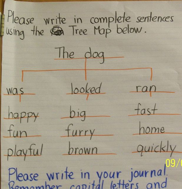 how to write sentences Write two examples of nouns and verbs, and then combine them to form sentences mary is the proper noun in the example sentence above but can be substituted in following sentences by the pronoun she.