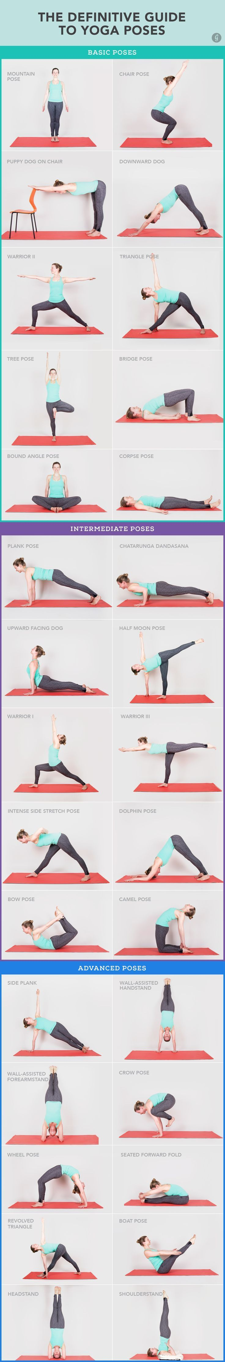 30 Yoga Poses You Really Need To Know #yoga #stretch #fitness